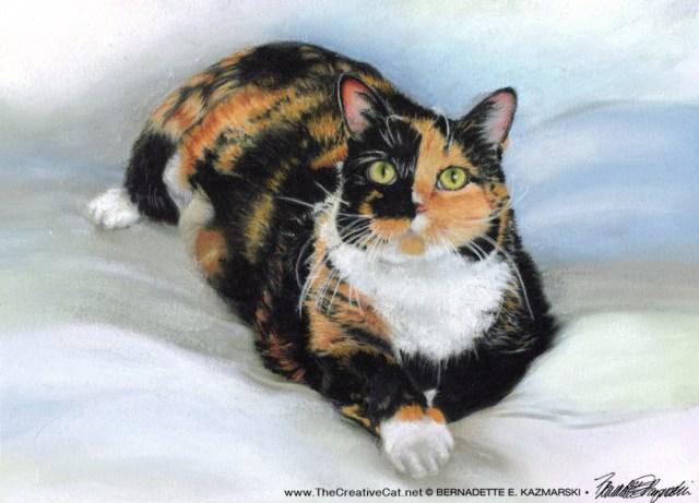 commissioned pastel cat portrait