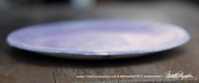 """Bath 6"""" Decorative Dish in Violet from the edge."""