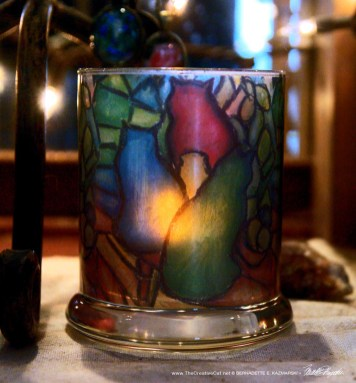 Stained Glass Cats votive.