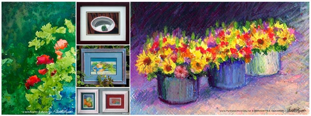 Floral Artwork Originals From Spring and Summer Days, 25% Off