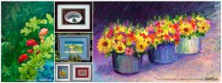 Original art, florals and still lifes.