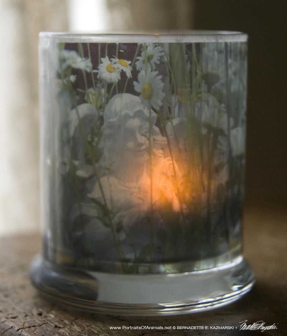 Angel Daisies Votive
