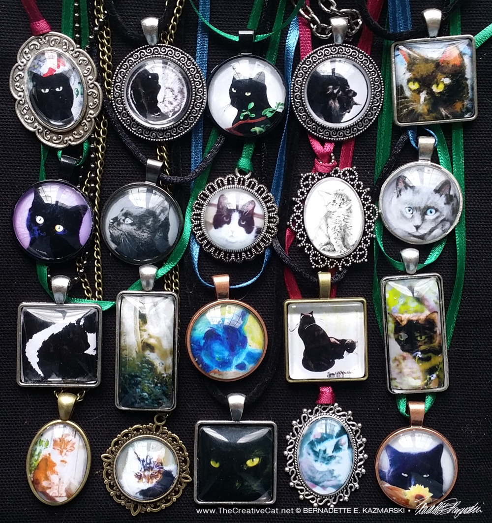 Kitty cabochons