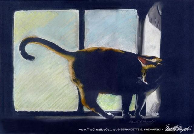 "Suncatcher, , pastel on Canson Mi Tientes, 16"" x 22"", 1989 © Bernadette E. Kazmarski"