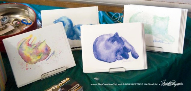 """Watercolors"" note cards."