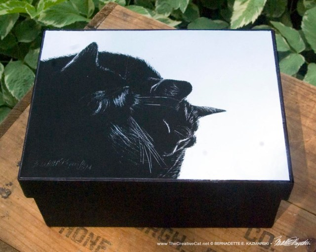 Black and Light Keepsake Box
