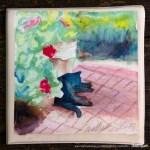 Garden Sketch With Mimi tile.