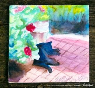 Garden Sketch With Mimi tile (original version).