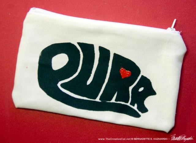 cat art accessory bag