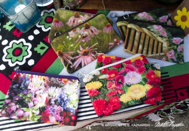 Display of nature accessory bags.