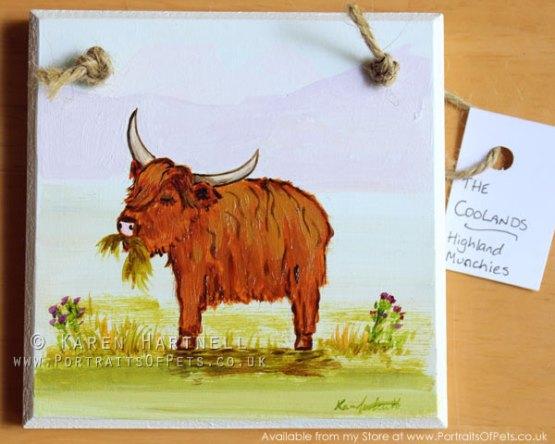 Highland Cow Plaque 02