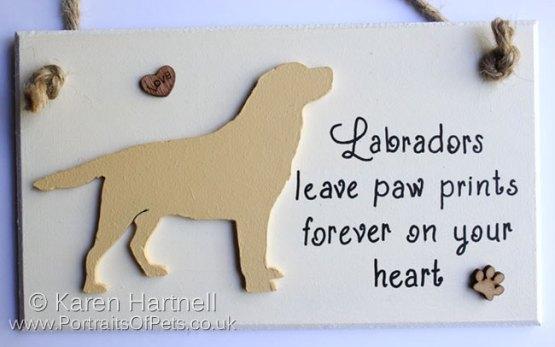 Yellow Labrador Plaque