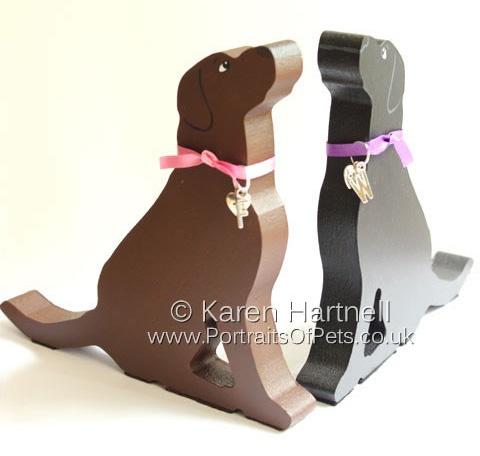 Sitting Labradors