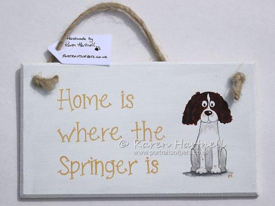 Springer Spaniel plaque