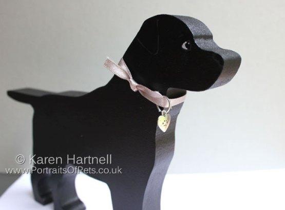 Standing Black Labrador