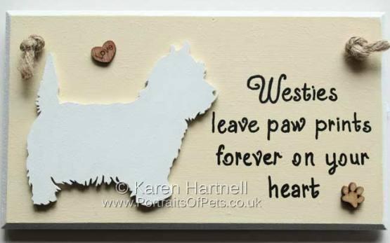 West Highland Terrier Plaque