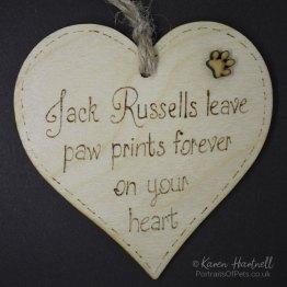 Jack Russells heart plaque