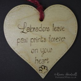 Labradors Heart plaque