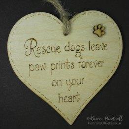 Rescue Dogs heart plaque