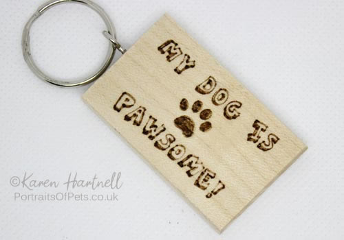 'My Dog Is Pawsome!' Keyring