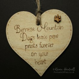Bernese Mountain Dog heart plaque