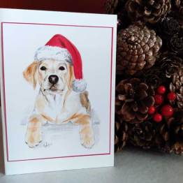Yellow Labrador Christmas Cards