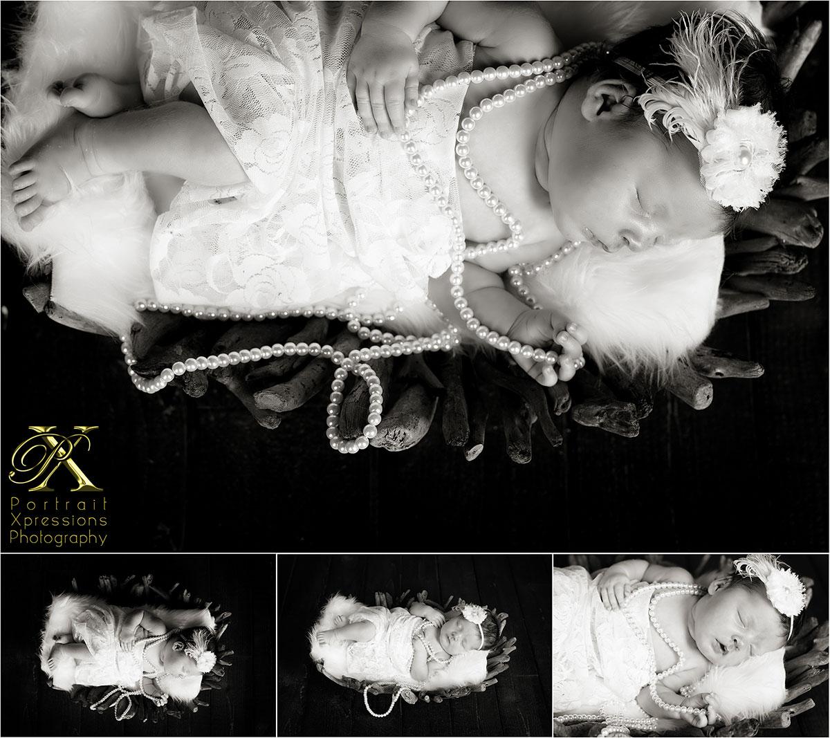 vintage newborn portraits