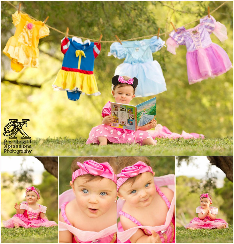 Disney princess dresses hanging