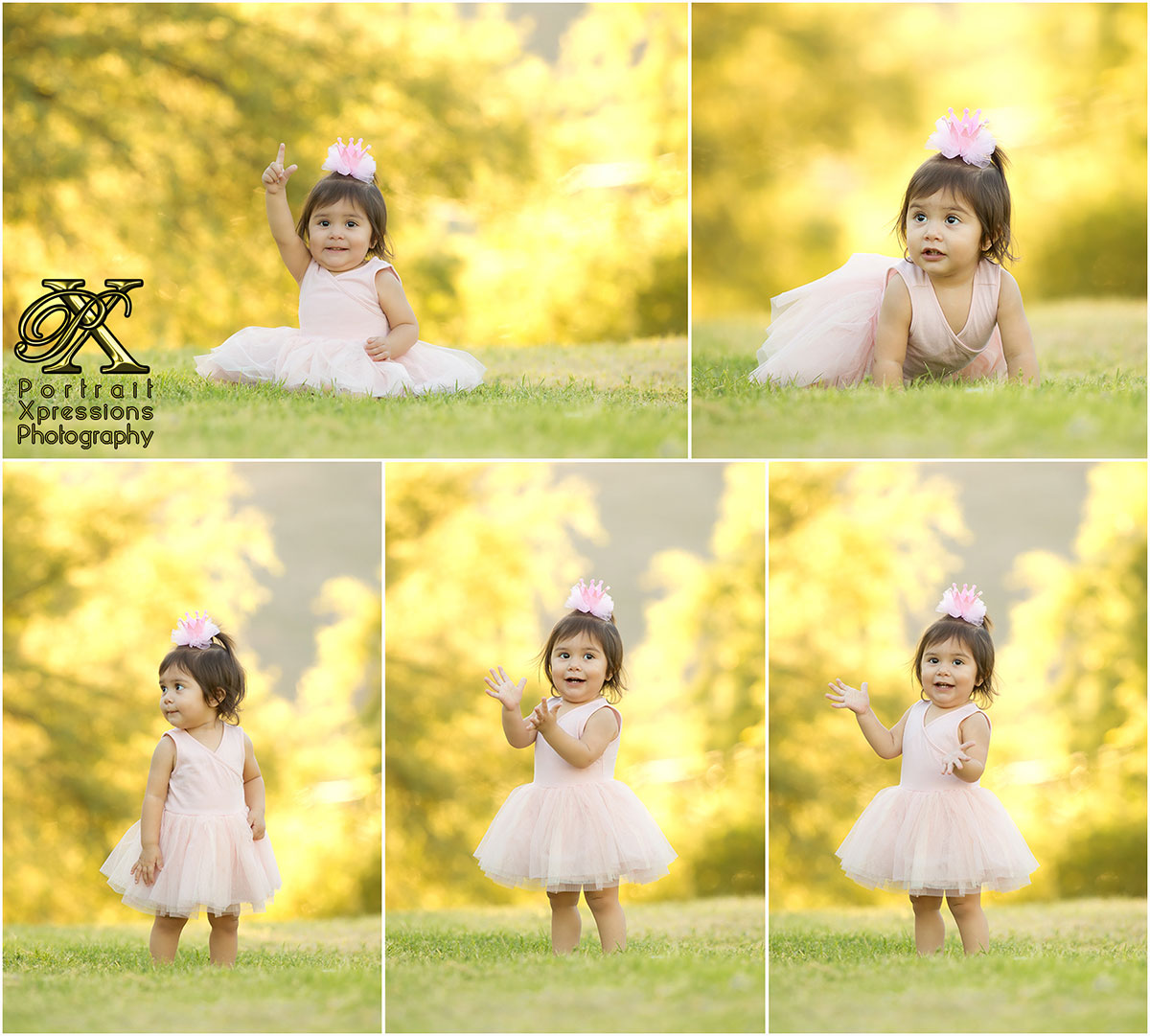 baby portraits at park in El Paso Texas