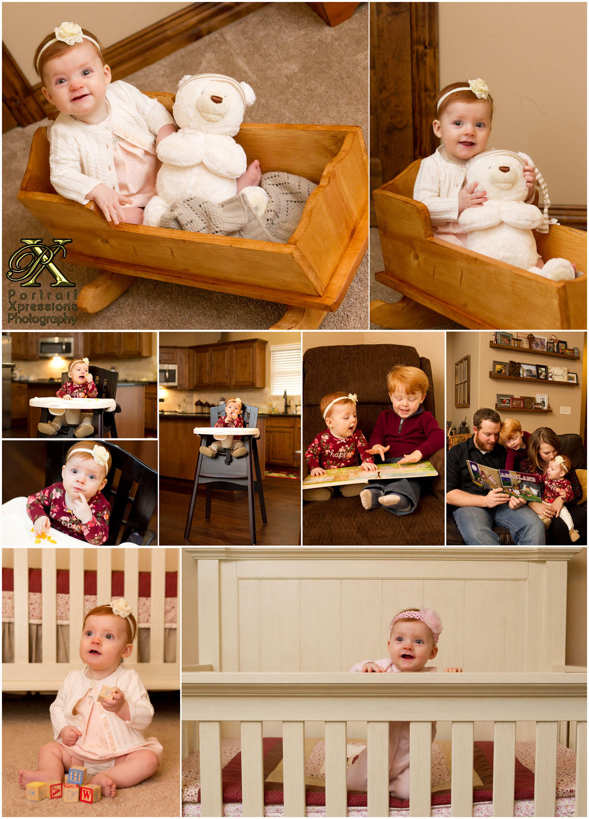 baby Joley's day in a life photography session