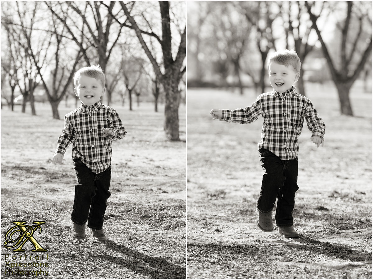 MJ running during outdoor portrait session in El Paso Texas.