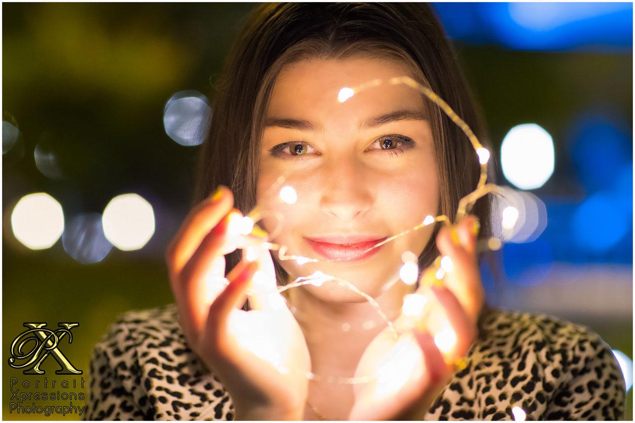 night time senior photography