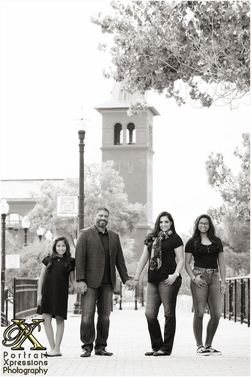 El Paso family portraits in Downtown El Paso