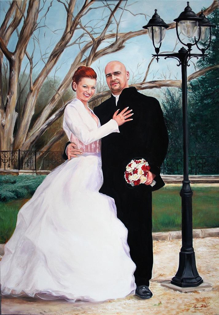 esküvői festmény