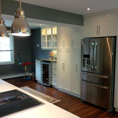Complete Kitchen Glass Round Table Renovation Ports East Construction Services
