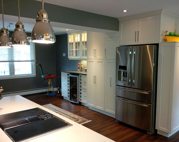 complete kitchen sanding and restaining cabinets renovation ports east construction services
