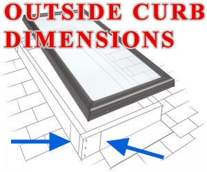 Curb_Mount_Measure SKYLIGHT, Performance Metal Roofing | Skylights | ME and NH