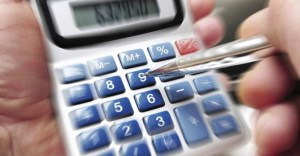 Calculator with zoomed in effect to represent our tax bill banner.