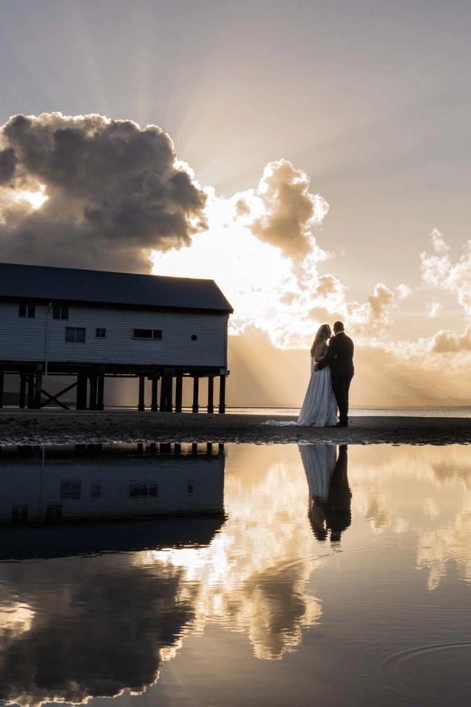 Port Douglas Sugar Wharf Sunset Wedding Photo