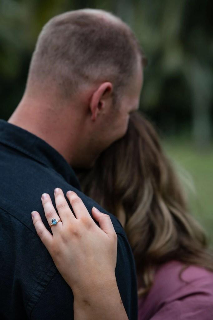 Engagement ring intimate photo