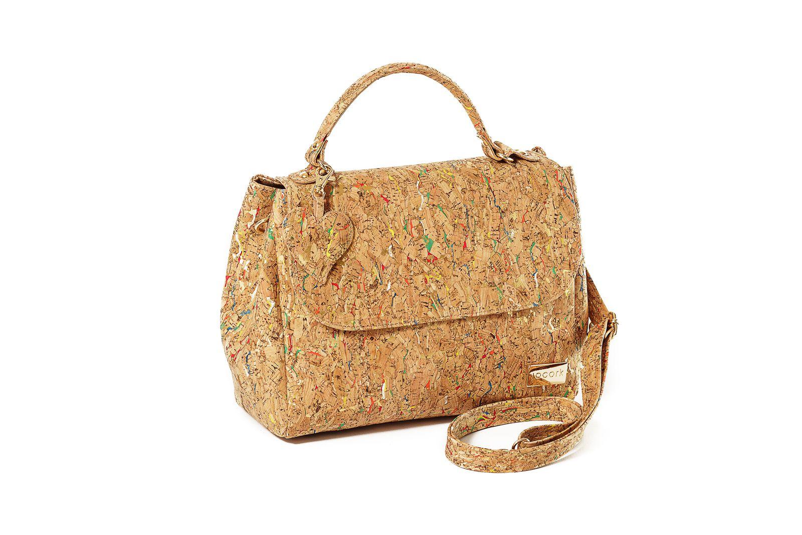 Cork Handbag BERLIN Mixed Colors