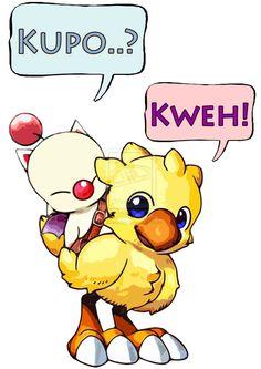 As mascotes carismáticas de Final Fantasy, Moogle e Chocobo