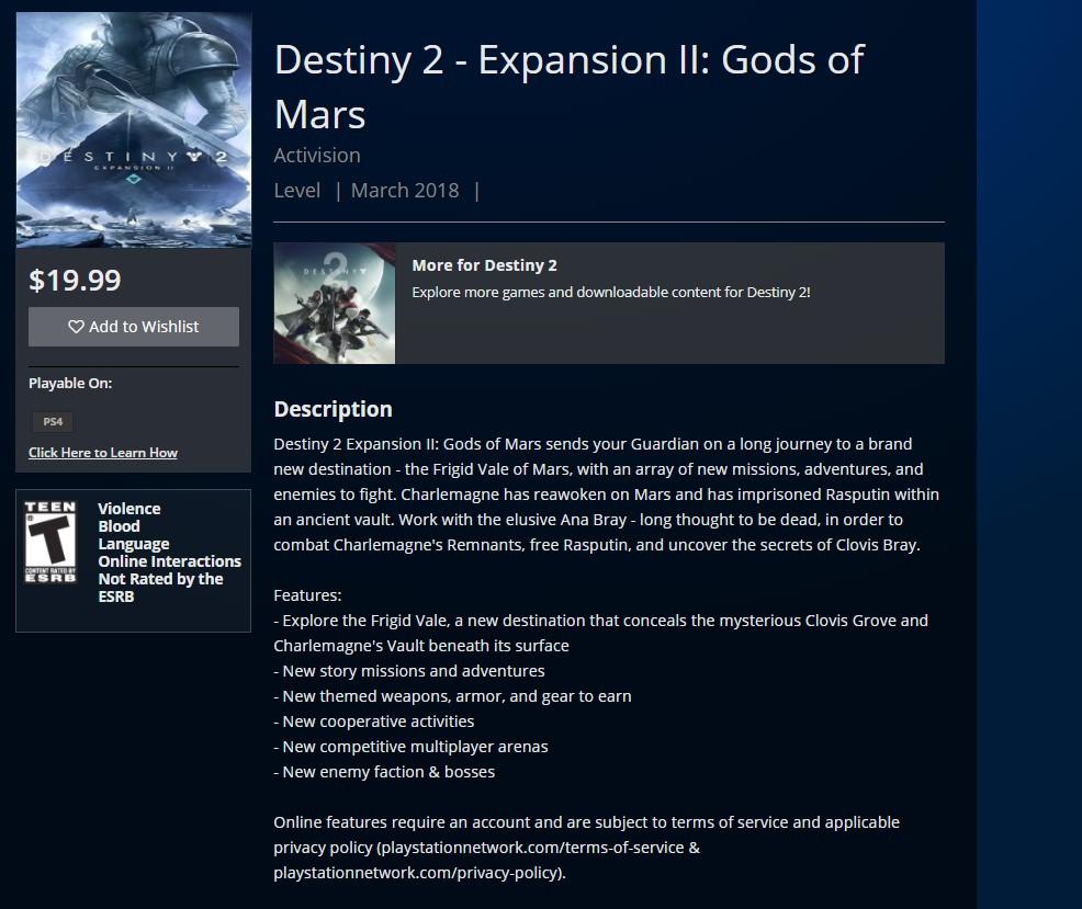 Segunda expansão de Destiny 2 vai ter história em Marte, sugere vazamento