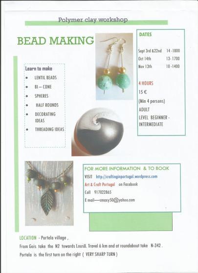 I ran my first bead making workshop