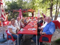 It was our final Portuguese lesson, so we went for a drink at the river beach bar afterwards.