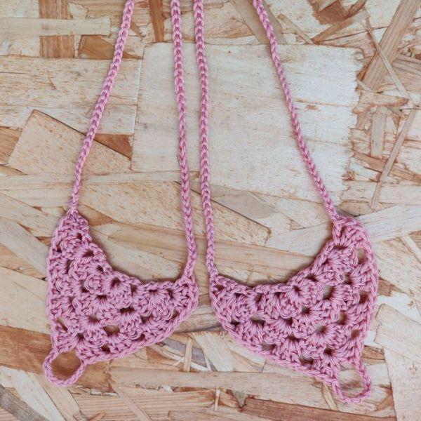 Crochet beach sandals in coral colour, handmade barefoot beach sandals