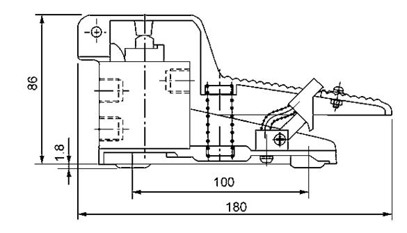 A válvula pneumática a acção directa do pedal do pé G1/4