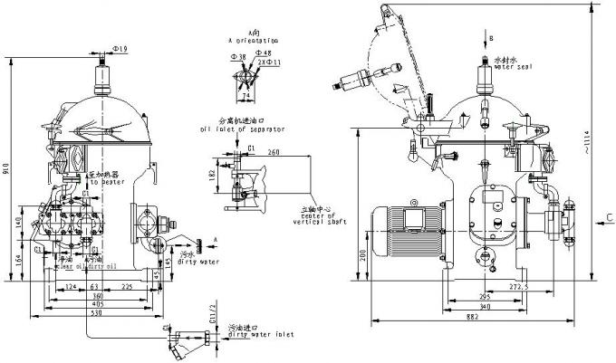Dos equipamentos centrífugos do separador do óleo marinho