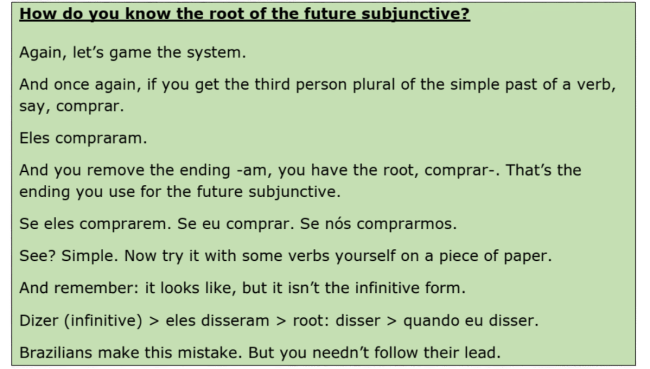 how to find the form of the future subjunctive
