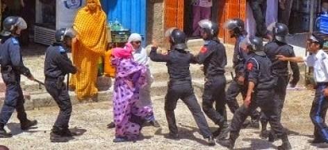 Asedio y brutal actuación policial marroquí contra mujeres saharauis en el barrio de Matalaa